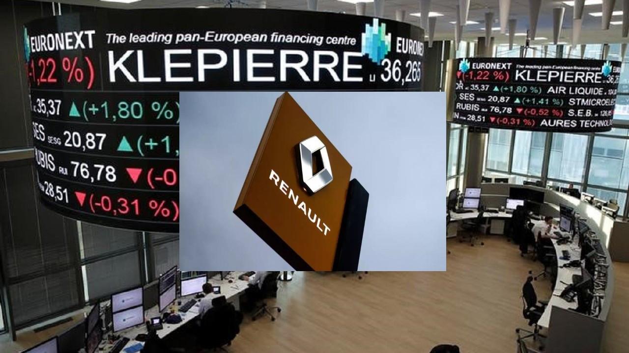 Yükselen Fransız borsaları içinde en sert düşüş Renault'tan geldi